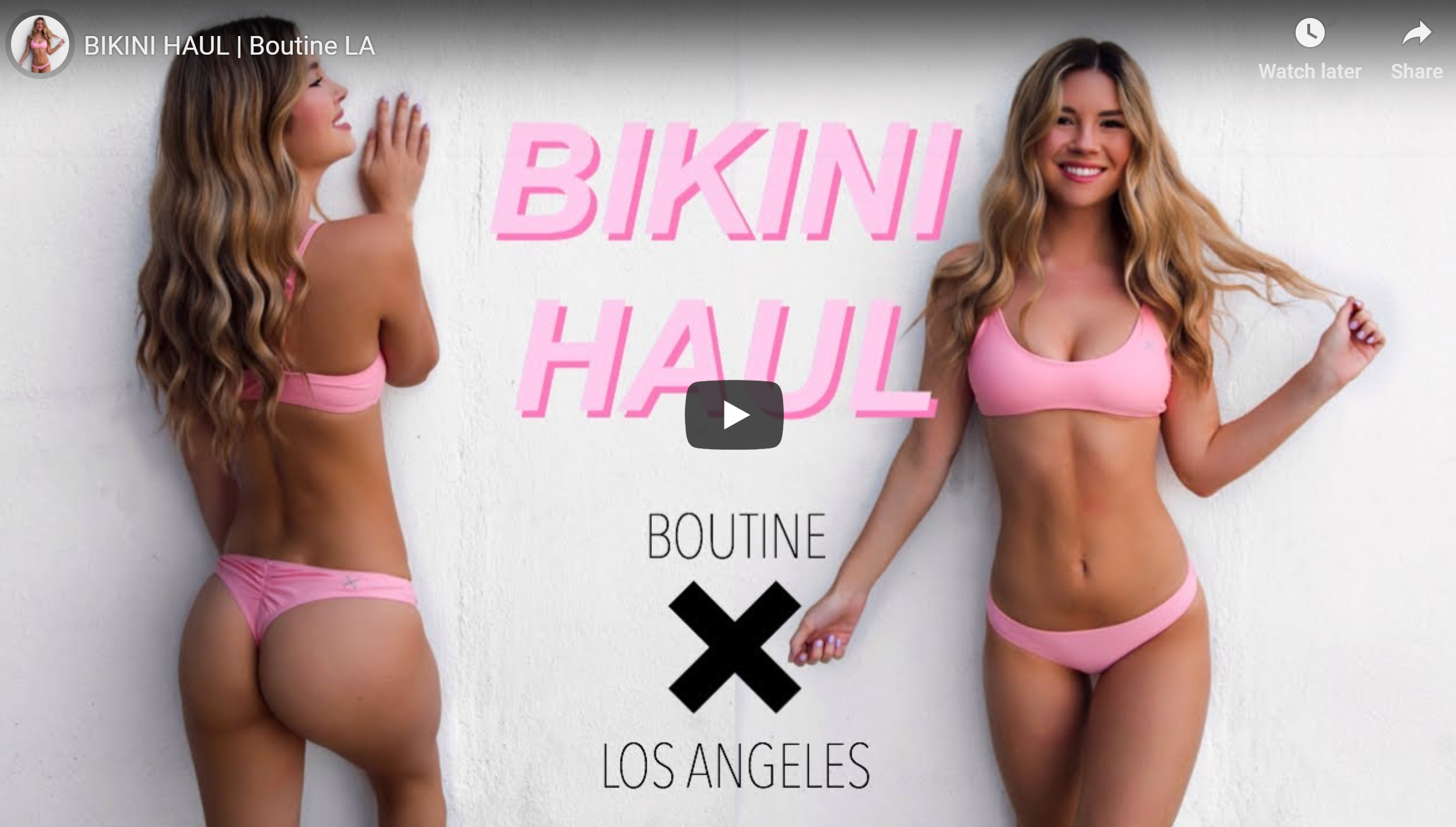 2019 BoutineLA Swimwear Try On by Audrey