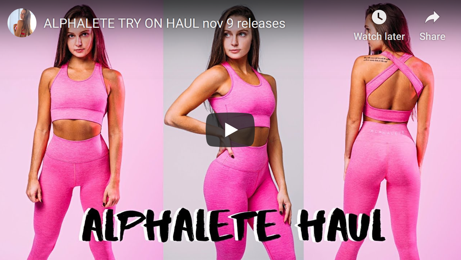 Alphalete Try On Review by Gabby