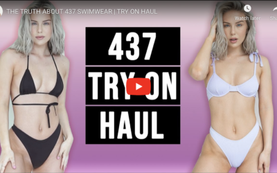 437 Swimwear Try On Review by Hannah